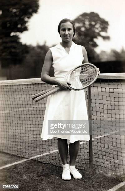 Sport/Tennis Circa 1935 Great Britiain's Dorothy Round the Wimbledon Lawn Tennis Ladies Singles Champion 1934 and 1937