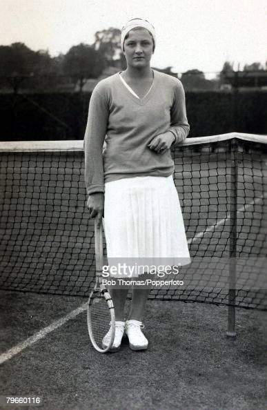 Sport/Tennis, circa 1935, Helen Jacobs, U,S,A, a four time