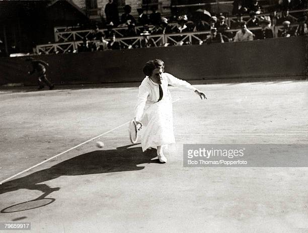 Sport/Tennis France Great Britain's Dorothea Douglass playing in the South of France She was the foremost woman player of the early 1900's winning...