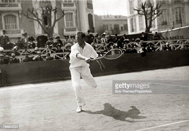 Sport/Tennis France New Zealander Tony Wilding who later in his tennis career won the Wimbledon Mens Singles title 4 times in 1910 1912 and 1913This...