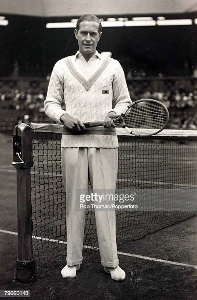 Sport/Tennis London England circa 1935 Baron Gottfried Von Cramm a German nobleman who won the French Open Tennis Mens Singles title in 1934 and 1936...
