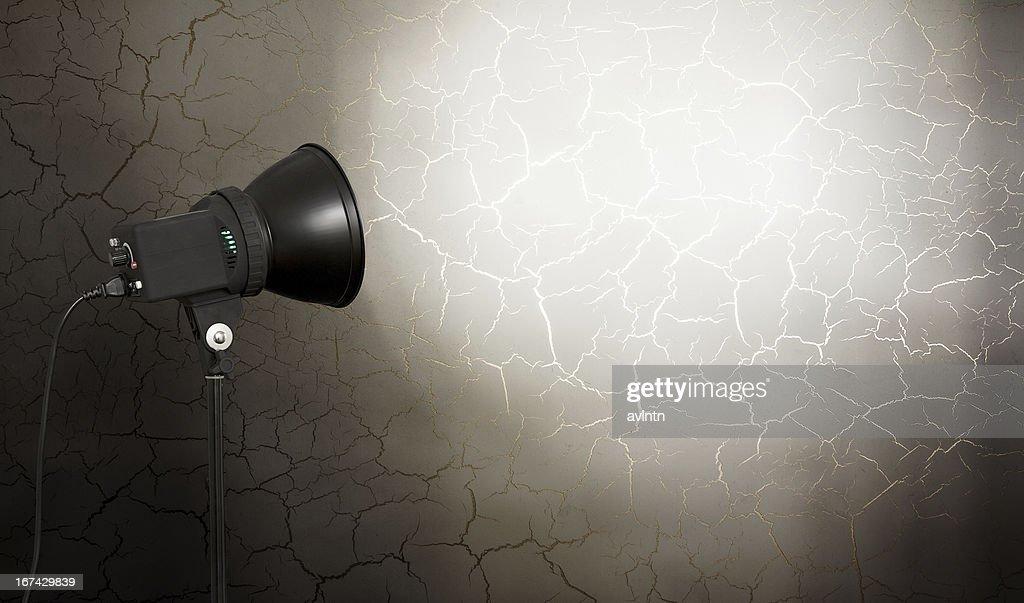 spot light on concrete wall : Stock Photo
