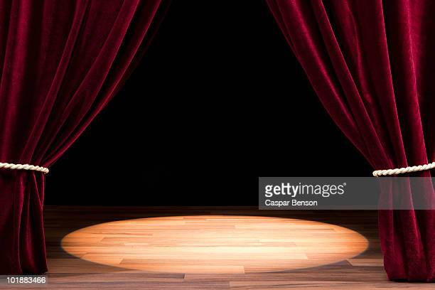 A Spot Lit Empty Theatre Stage