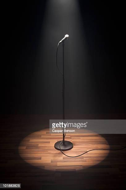 A Spot lit Microphone