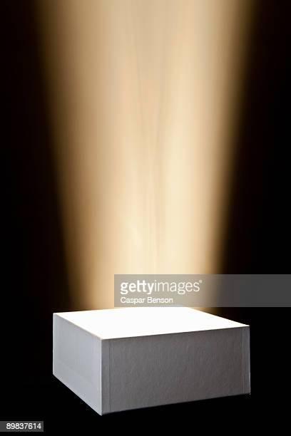 A spot lit pedestal