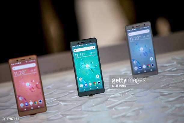 Spot Nuevo Xperia Z 20 smartphone Thousands of people participate in the Mobile World Congress 2018 in Barcelona Spain from February 26 to March 1...