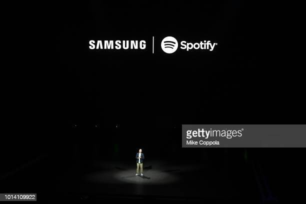 Spotify CEO Daniel Ek speaks onstage during Samsung Unpacked New York City at Barclays Center on August 9 2018 in Brooklyn City
