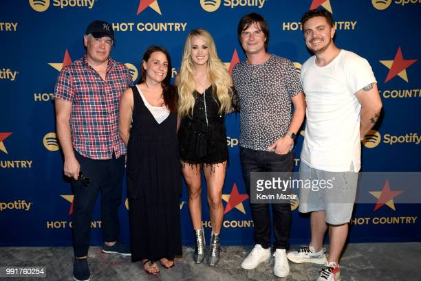 Spotify Head of Music Culture Doug Ford Spotify's Rachel Ghiazza Carrie Underwood Spotify VP Shows and Editorial Nick Holmsten and Spotify Head of...