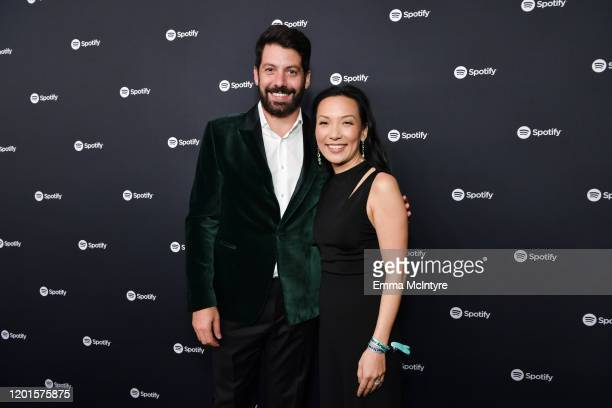 Spotify Head of Music Strategy Jeremy Erlich and Spotify VP of Global Head of Artist Label Services Marian Dicus attend Spotify Hosts Best New Artist...