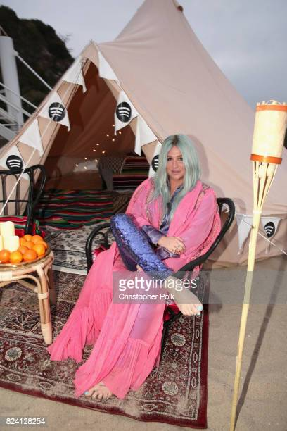 Spotify hosts a listening event with Kesha and her fans to celebrate her new album 'Rainbow' on July 28 2017 in Malibu California