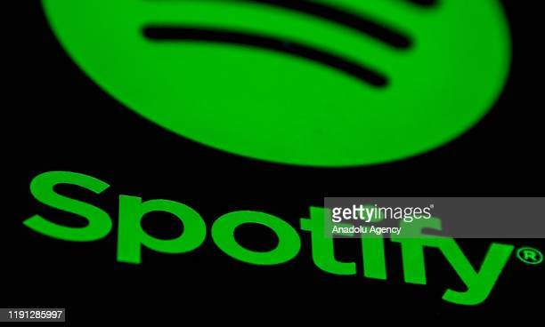 Spotify logo is being displayed on the screen of a smart phone in Izmir, Turkey on January 01, 2020.