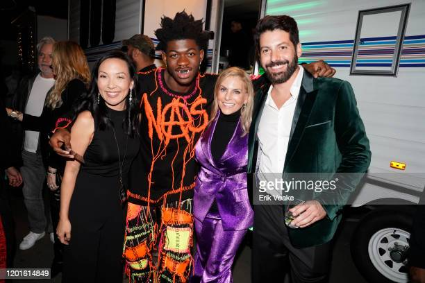Spotify VP of Global Head of Artist Label Services Marian Dicus Lil Nas X Chief content officer Spotify Dawn Ostroff and Spotify Head of Music...