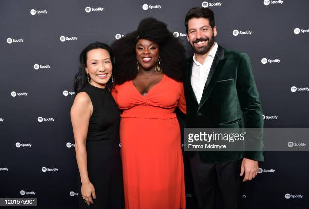 Spotify VP of Global Head of Artist Label Services Marian Dicus Yola and Spotify Head of Music Strategy Jeremy Erlich attend Spotify Hosts Best New...