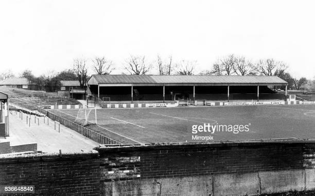 Spotland Stadium, home of Rochdale Football Club. 13th May 1985.