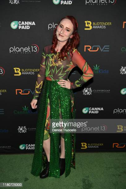 Spotlight Award finalist Riley Travers from 805 Beach BreaksGrover Beach CAarrives at the First Budtender Awards at Light Nightclub at Mandalay Bay...