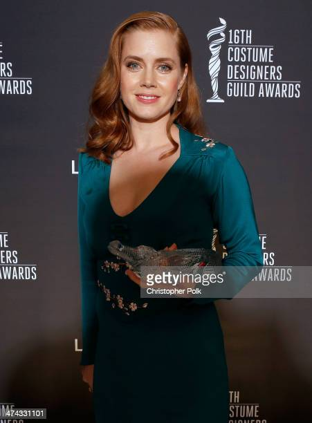 Spotlight Award Honoree Amy Adams attends the 16th Costume Designers Guild Awards with presenting sponsor Lacoste at The Beverly Hilton Hotel on...