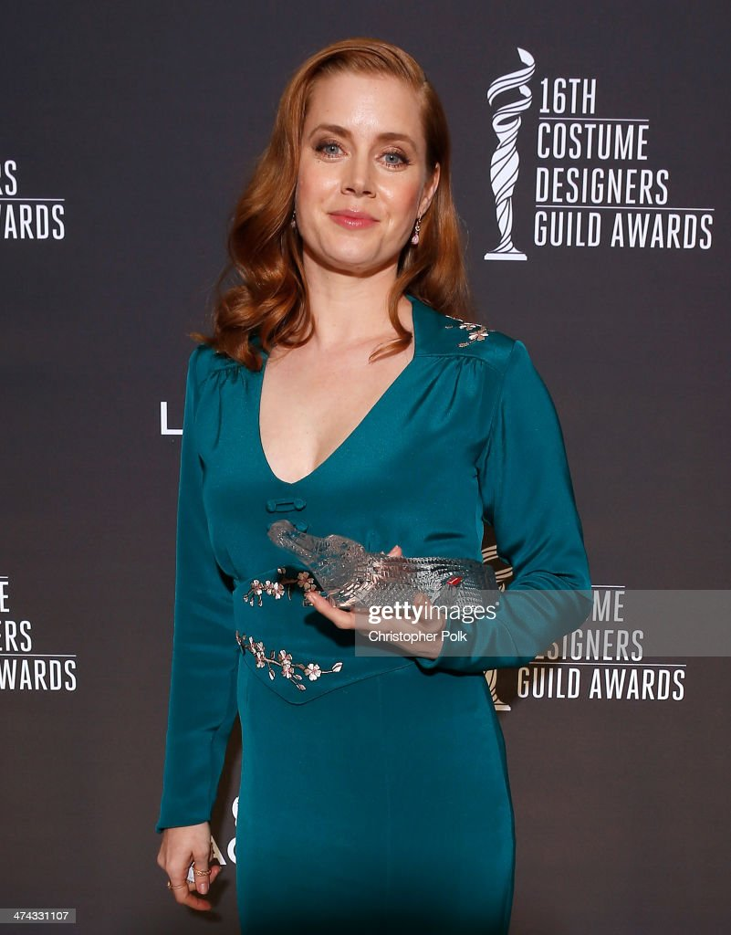 Spotlight Award Honoree Amy Adams attends the 16th Costume Designers Guild Awards with presenting sponsor Lacoste at The Beverly Hilton Hotel on February 22, 2014 in Beverly Hills, California.