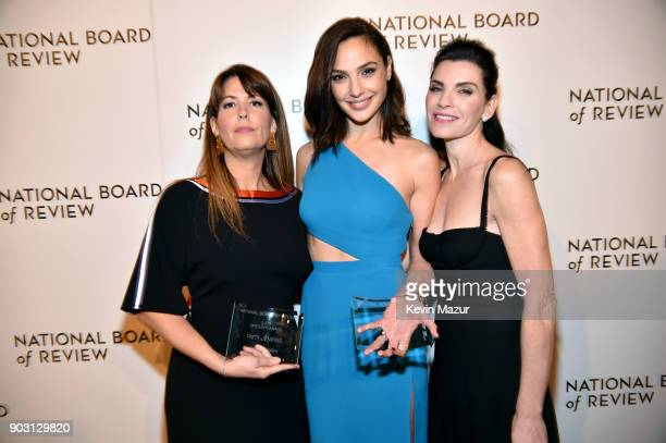 Spotlight Award Winners Patty Jenkins Gal Gadot and Julianna Margulies attend the National Board of Review Annual Awards Gala at Cipriani 42nd Street...