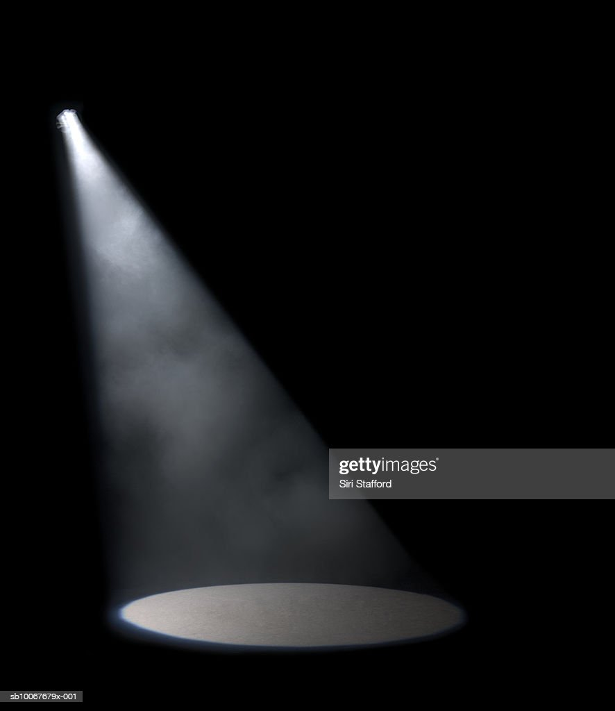 Spotlight in studio : Stock Photo