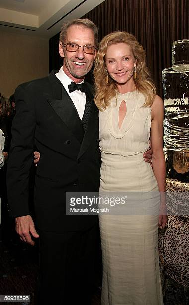 EXCLUSIVE Spotlight in Television Award Winner Robert Blackman and Actress Joan Allen attend the 8th Annual Costume Designers Guild Awards VIP...