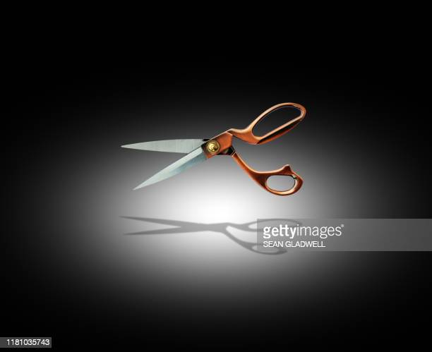 spotlight on fashion scissors - chopped stock pictures, royalty-free photos & images