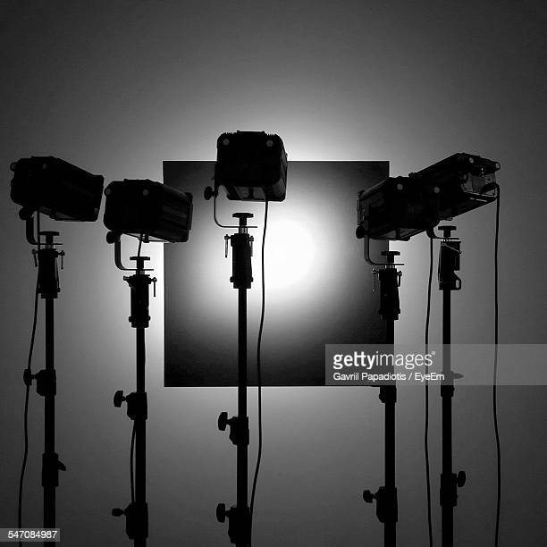 spotlights focusing on board - vignette stock photos and pictures