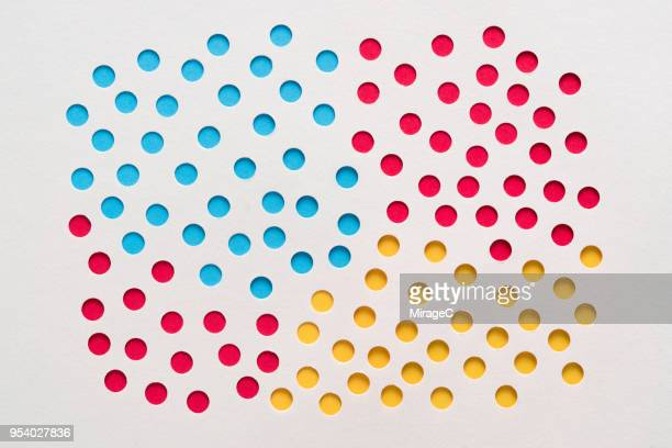 RBY Spots Perforated Paper Hole