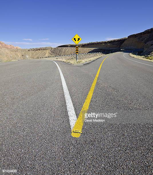 spotted wolf canyon view area of highway i-70. - forked road stock pictures, royalty-free photos & images