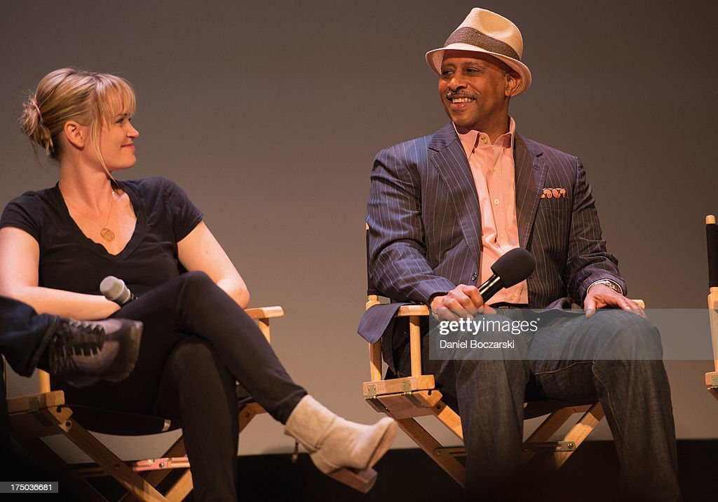 Sprague Grayden and Ruben Santiago-Hudson attend AMC's 'Low Winter Sun' cast Q&A with Art House Convergence on July 29, 2013 in Ann Arbor, Michigan.