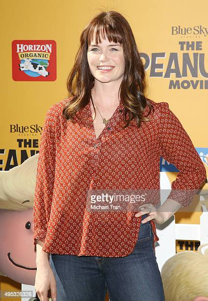 Sprague Grayden arrives at the Los Angeles premiere of 20th Century Fox's 'The Peanuts Movie' held at Regency Village Theatre on November 1 2015 in...