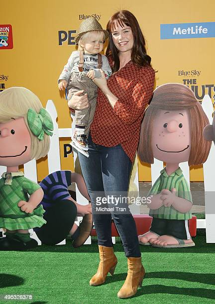 Sprague Grayden arrives at the Los Angeles premiere of 20th Century Fox's The Peanuts Movie held at Regency Village Theatre on November 1 2015 in...