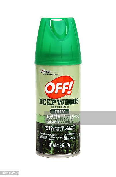 spray container of deep woods off - off stock pictures, royalty-free photos & images