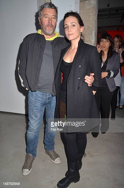 Spray designer Philippe Starck and his daughter painter/singer Ara Starck from ÕThe TwoÕ band attend the 'WAA/HH' Food Flavouring Spray By Philippe...