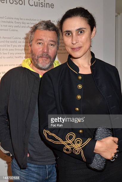 Spray designer Philippe Starck and his wife Jasmine attend the 'WAA/HH' Food Flavouring Spray By Philippe Starck and Patrick Edwards Launch Cocktail...
