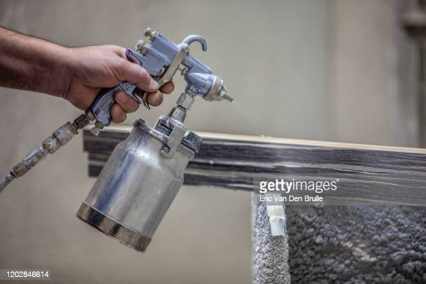 spray gun - eric van den brulle stock pictures, royalty-free photos & images
