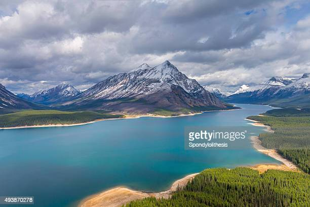 Spray Lakes Reservoir Aerial View, Mount Assiniboine Provincial Park, Canada