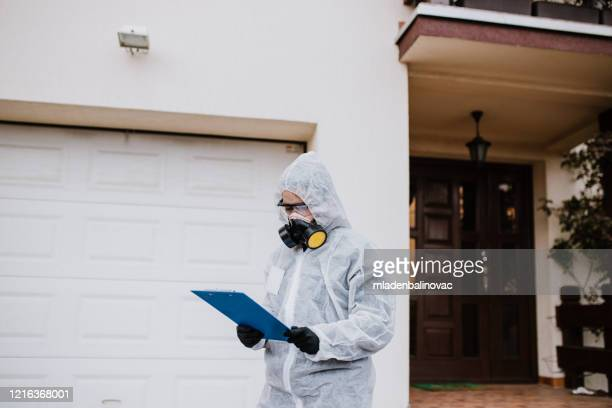 spraying, disinfection and decontamination - science and technology stock pictures, royalty-free photos & images