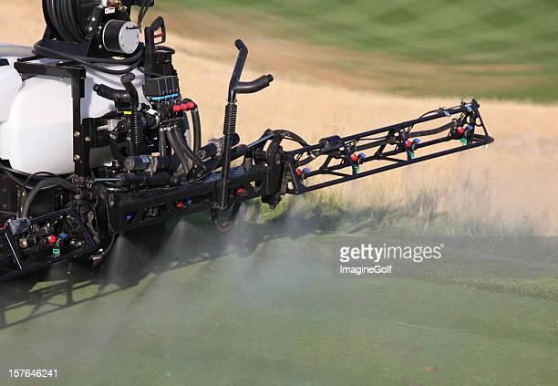 Spraying Liquid Fertilizer on a Golf Course
