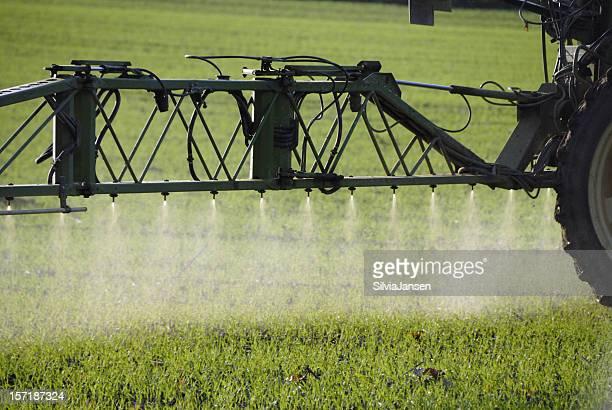 spraying on field