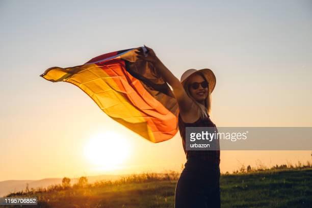 ドイツ国旗の拡散 - 再統一 ストックフォトと画像