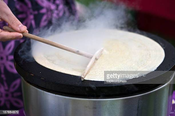 Spreading the Crepe Batter