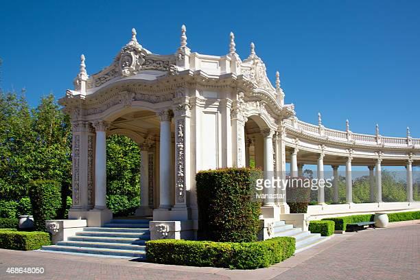 spreckels organ pavilion  - san diego balboa park archi - balboa park stock photos and pictures