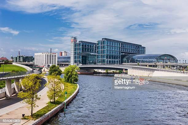 Spree River and Berlin Hauptbahnhof
