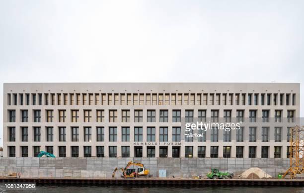 シュプレー川やベルリン、ドイツ、建設中のフンボルト フォーラム - ベルリン王宮 ストックフォトと画像