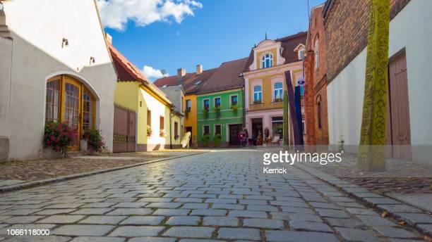 spreewald lübbenau, lehde - old town street in sunlight - spreewald imagens e fotografias de stock