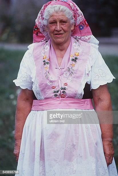 Spreewälderin in typischer Tracht- 1991