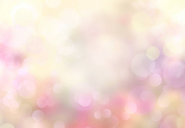 Spring Abstract Blurred Bokeh Light Yellow Background