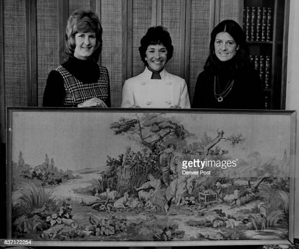 Spring Auction to Aid Education Organization From left Mrs Joseph Clancy Mrs Herbert Crane and Mrs Adolph Coors IV Credit The Denver Post