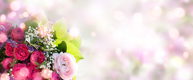 Spring bouquet on soft background 1097843584