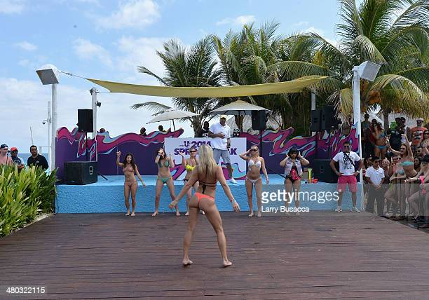 "Spring breakers attend mtvU Spring Break 2014 at the Grand Oasis Hotel on March 19 2014 in Cancun Mexico ""mtvU Spring Break starts airing March 31st..."